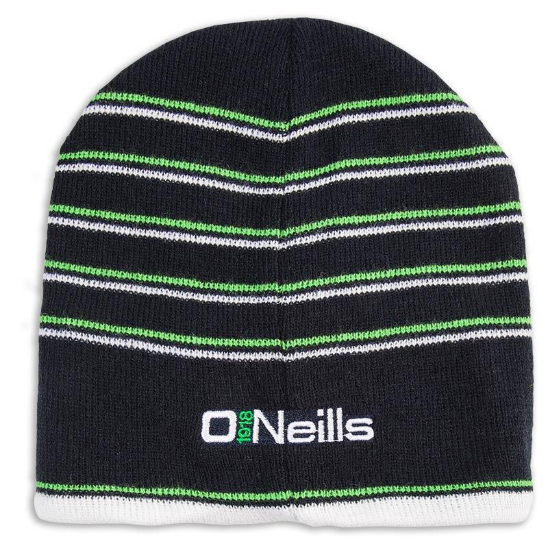 0ffd591db3e Striped Beanie Hat (Navy Lime White) (Kids)