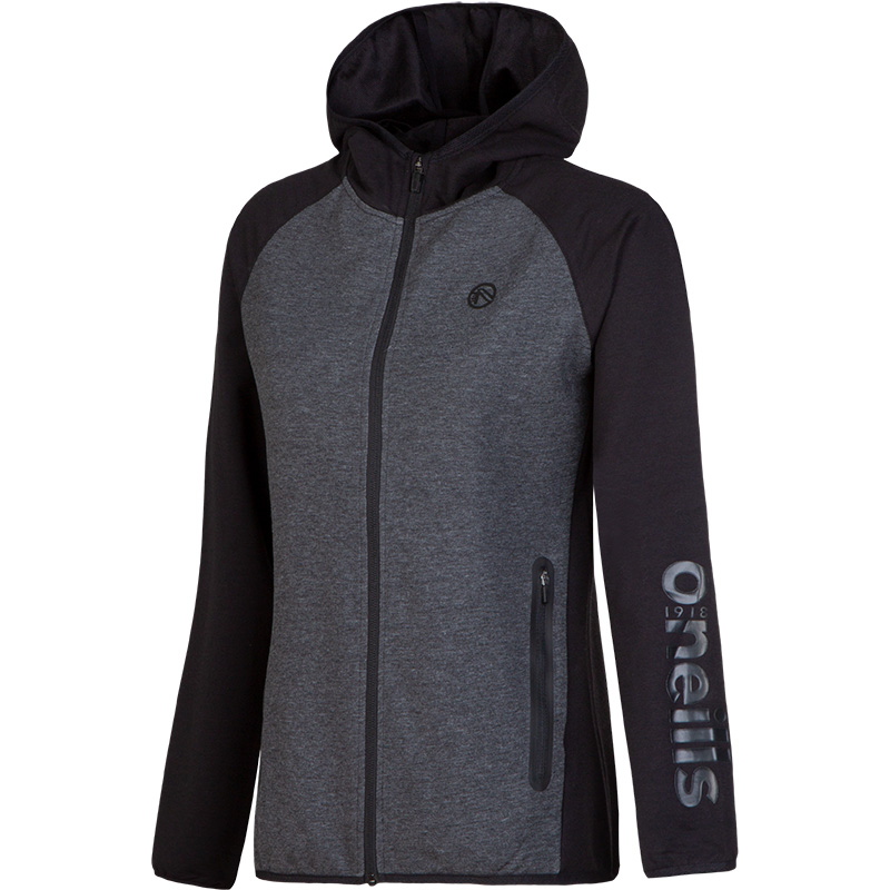 f34e9f185a Brodie French Terry Full Zip Hooded Top (Black/Marl Black)