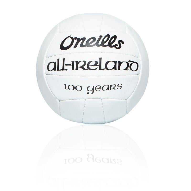 Mini All Ireland Football 100 Year Edition (White)