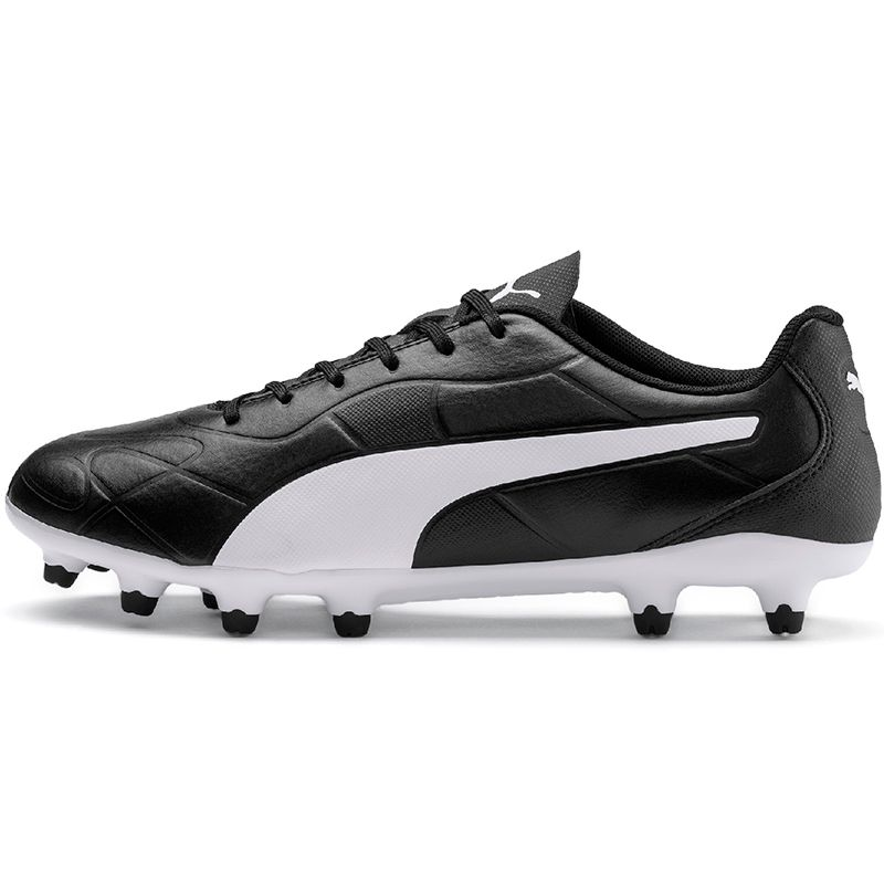 Men's Puma Monarch FG Football Boot Black / White