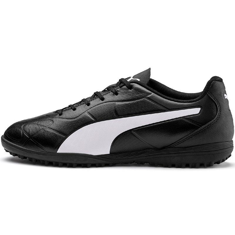 Mens' Puma Monarch TT Football Boot Black / White