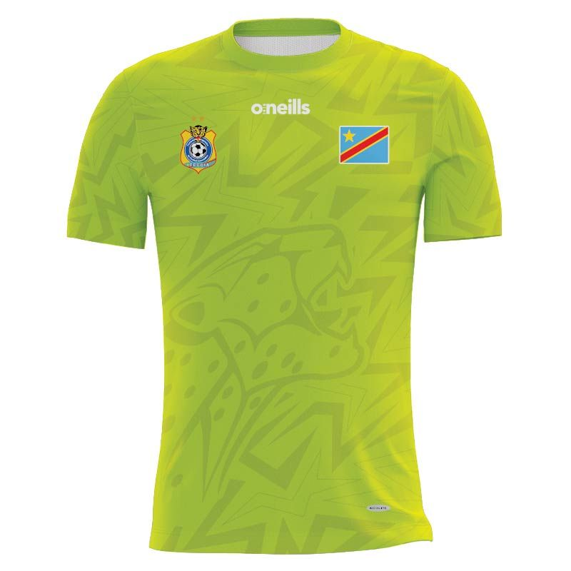 Democratic Republic of Congo Soccer Jersey (Lime)