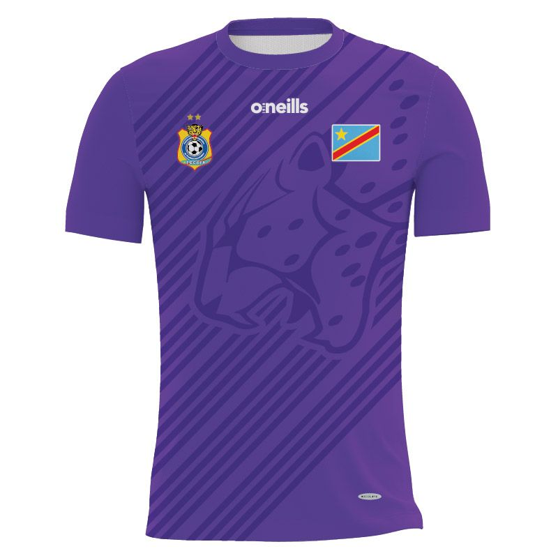 Democratic Republic of Congo Soccer Jersey (Purple)