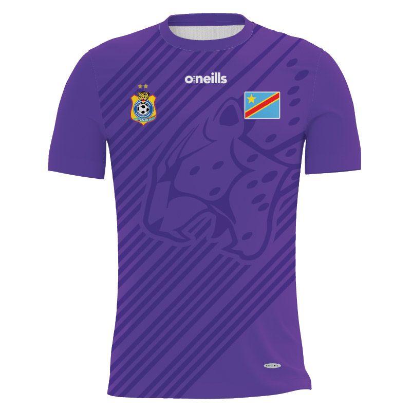 Democratic Republic of Congo Kids' Soccer Jersey (Purple)