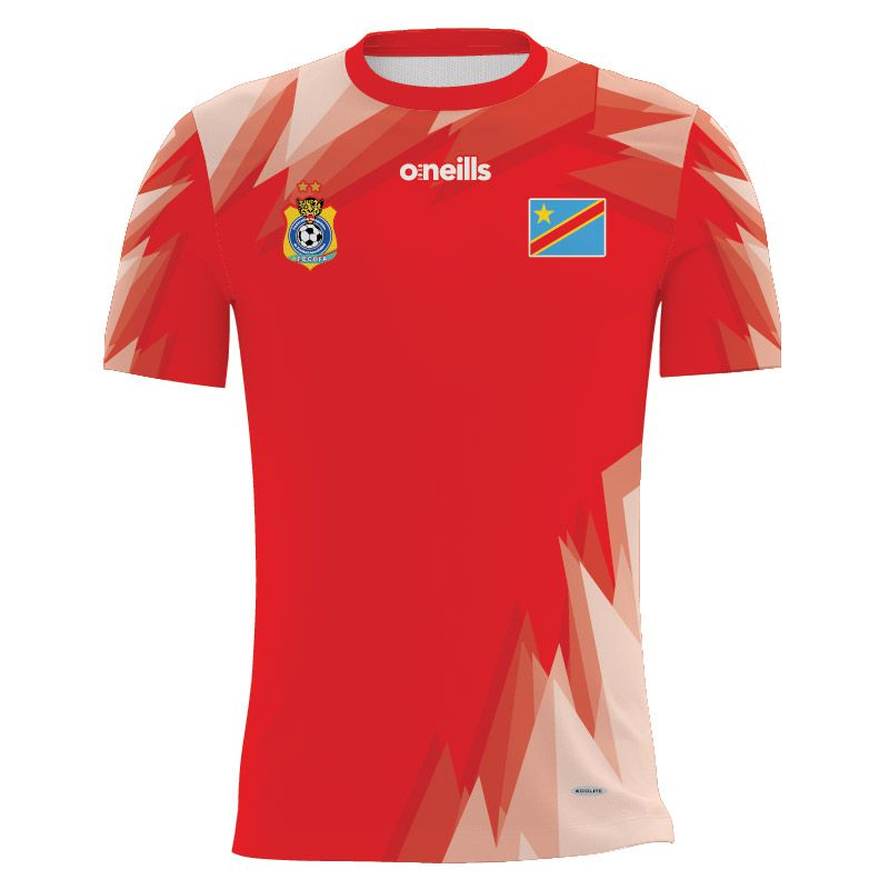 Democratic Republic of Congo Soccer Jersey (Red)