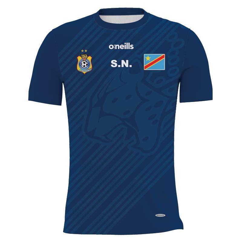 Democratic Republic of Congo Soccer Jersey (Navy)