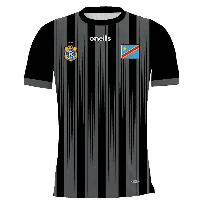 Democratic Republic of Congo Kids' Soccer Jersey (Black)