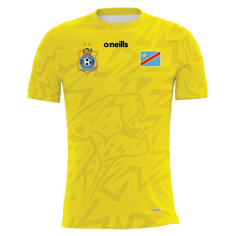 Democratic Republic of Congo Kids' Soccer Jersey (Yellow)