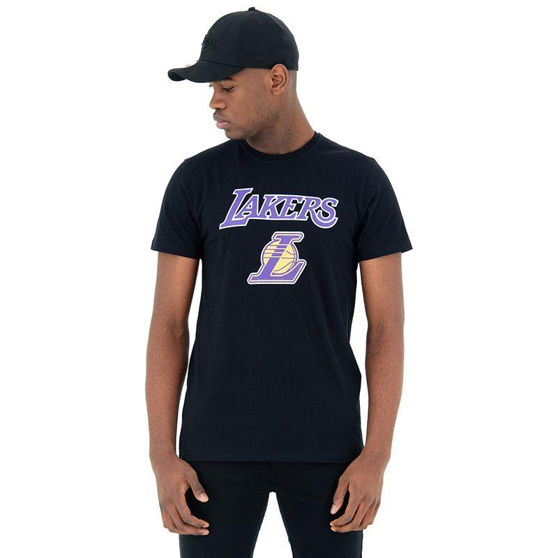 Men's New Era Los Angeles Lakers T-Shirt  Black / Purple
