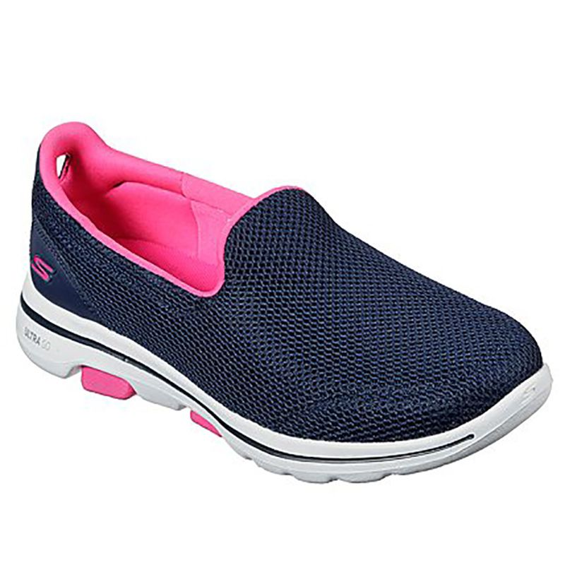 Women's Skechers GOwalk 5™ - Fantasy Slip On Trainers Navy / Hot Pink