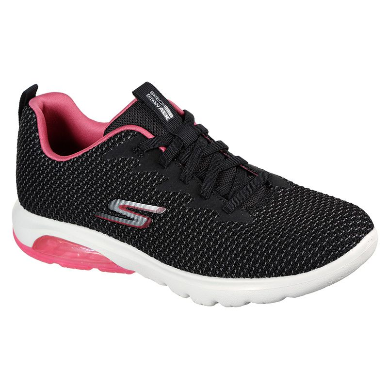 Women's Skechers GOwalk Air - Shadow Trainers Black / Hot Pink