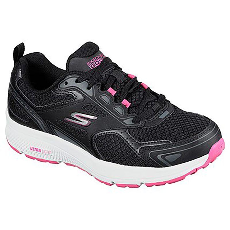 Women's Skechers GOrun Consistent Trainers Black / Pink