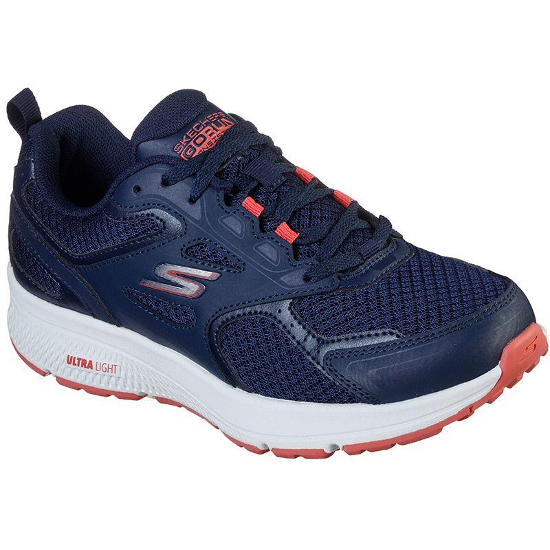 Women's Skechers Go Run Consistent Running Shoes Navy / Pink