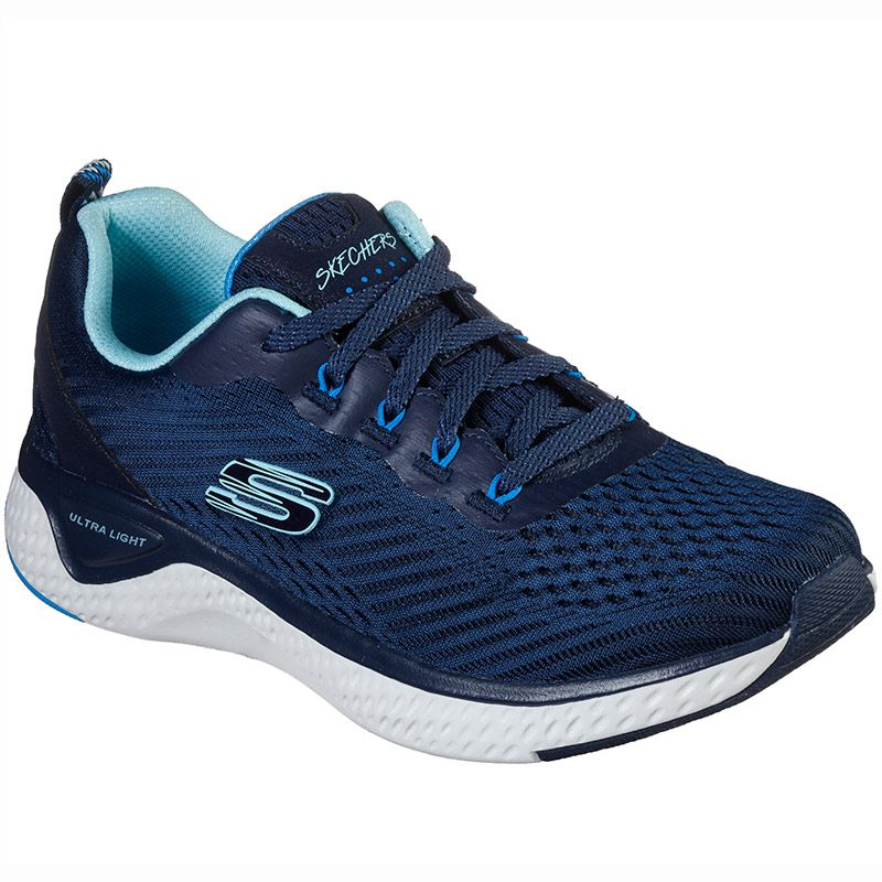 Women's Skechers Solar Fuse - Cosmic View Trainers Navy / Blue