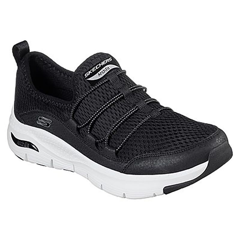 Women's Skechers Arch Fit - Lucky Thoughts Trainers Black / White