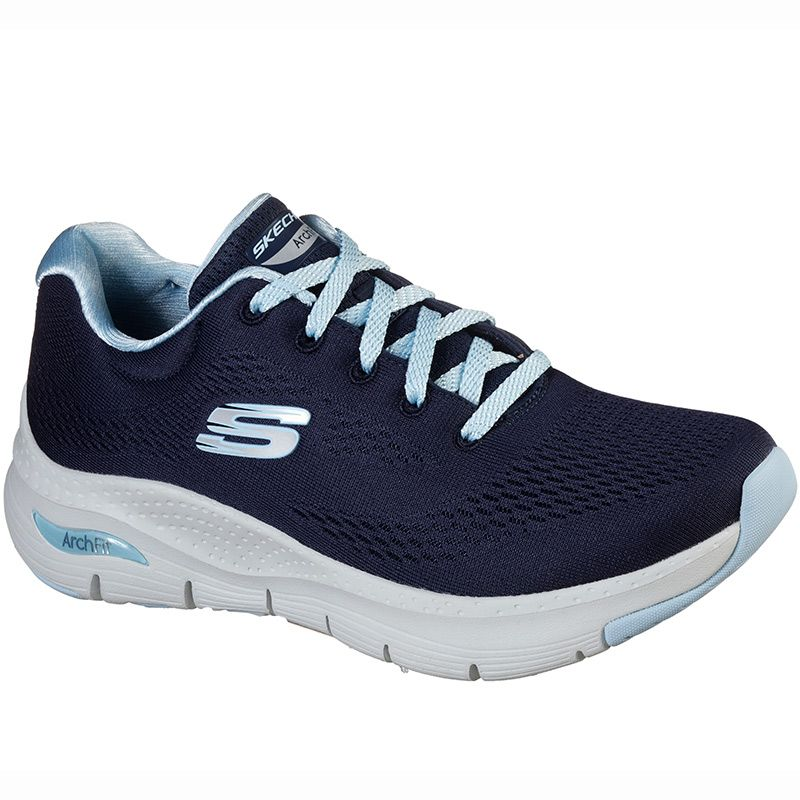 Equipo comerciante Grabar  Women's Skechers Arch Fit - Sunny Outlook Trainers Navy / Light Blue |  oneills.com