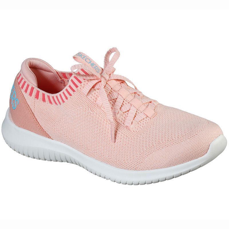 Women's Skechers Ultra Flex - Rapid Attention Trainers Coral / White