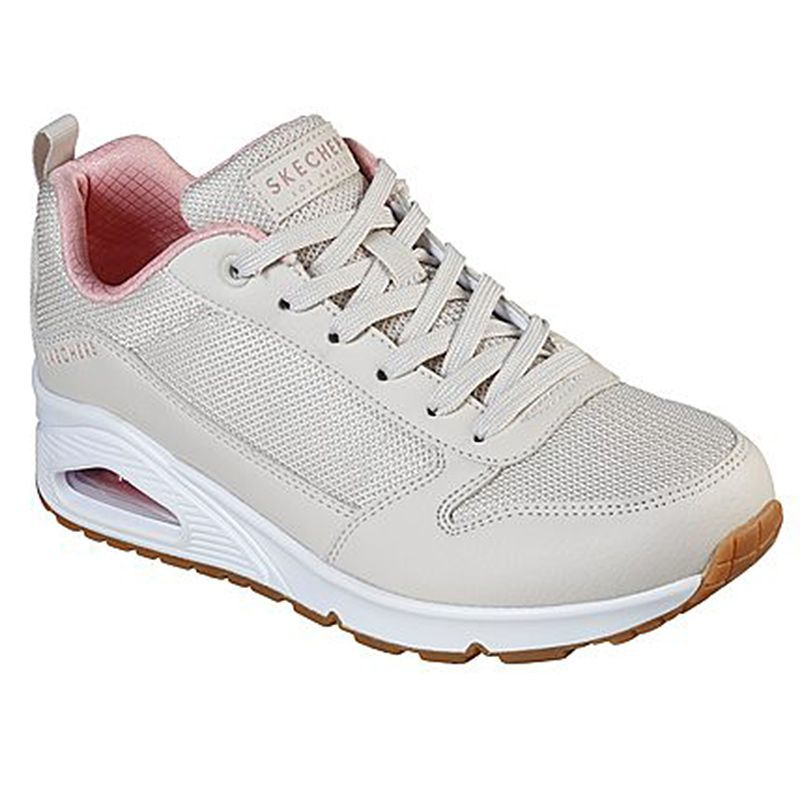 Women's Skechers Uno - Inside Matters Trainers Natural / Pink