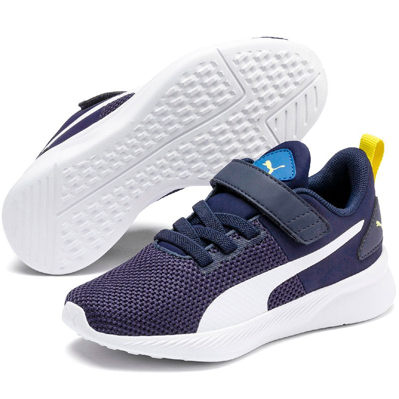 Kids' Puma Flyer PS Trainers Galaxy Blue / Peacoat / White