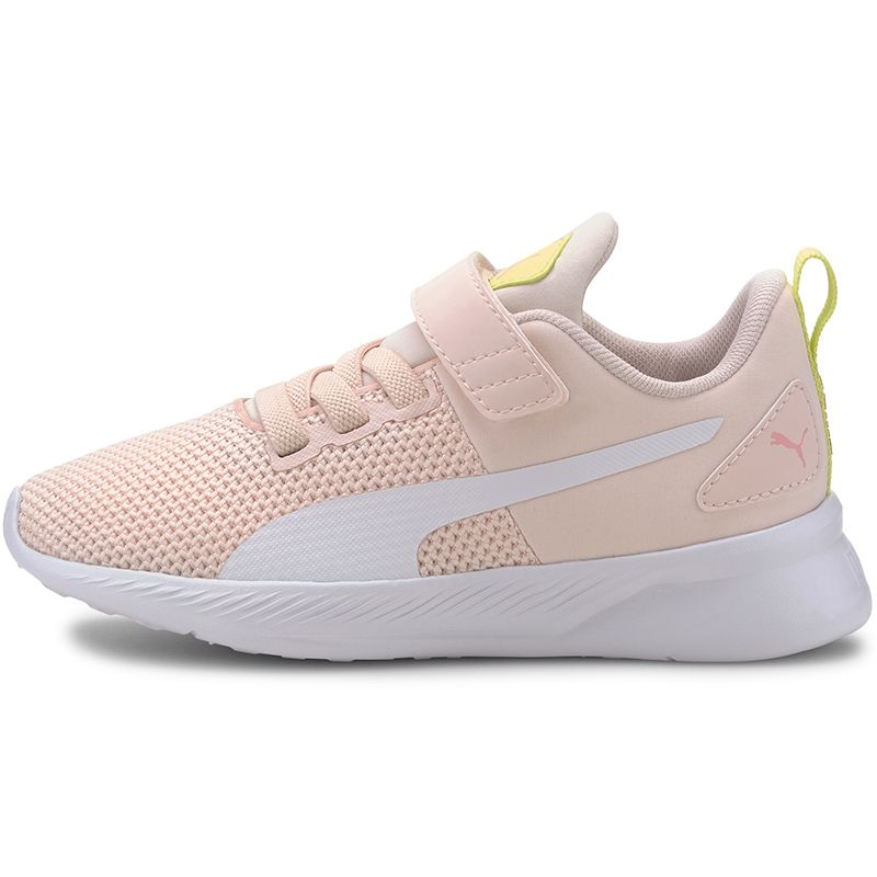 Kids' Puma Flyer PS Trainers Rosewater / White / Lime