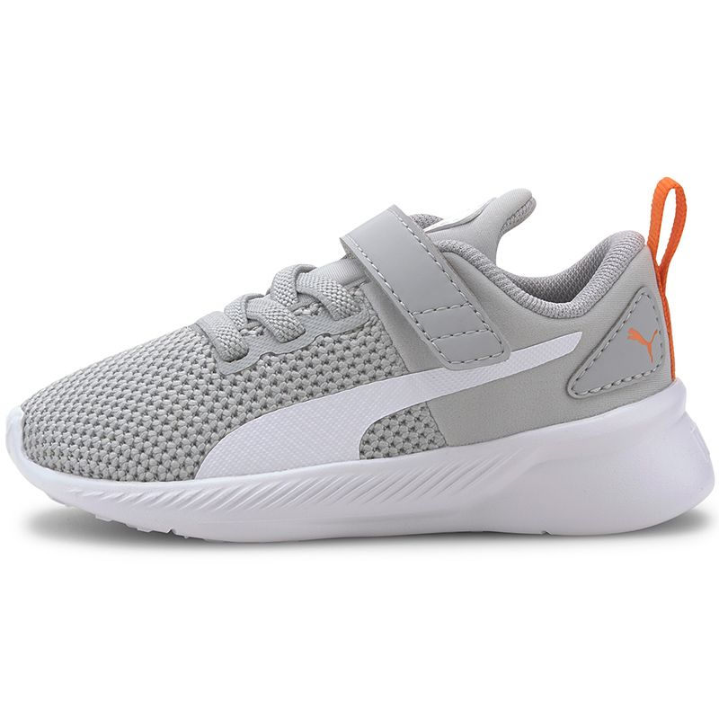 Kids' Puma Flyer Infant Trainers Grey / White / Firecracker