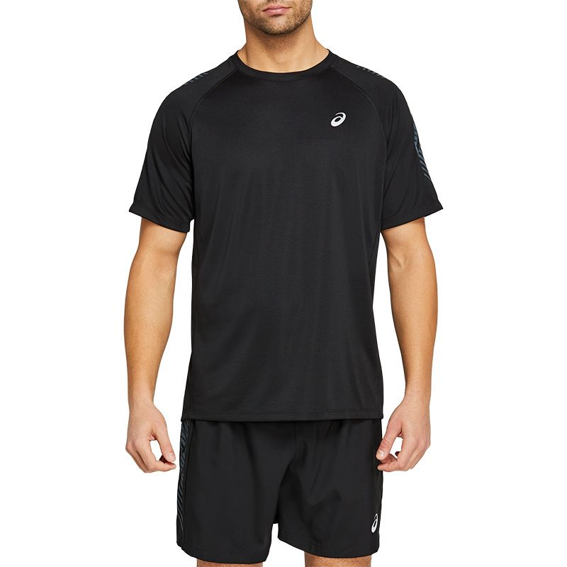 Men's ASICS Icon Short Sleeve Top Performance Black / Carrier Grey
