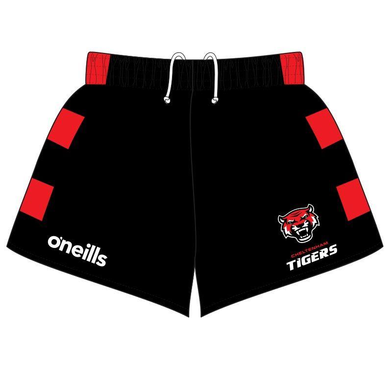 Cheltenham Tigers Shorts (Black/Red) (Kids)