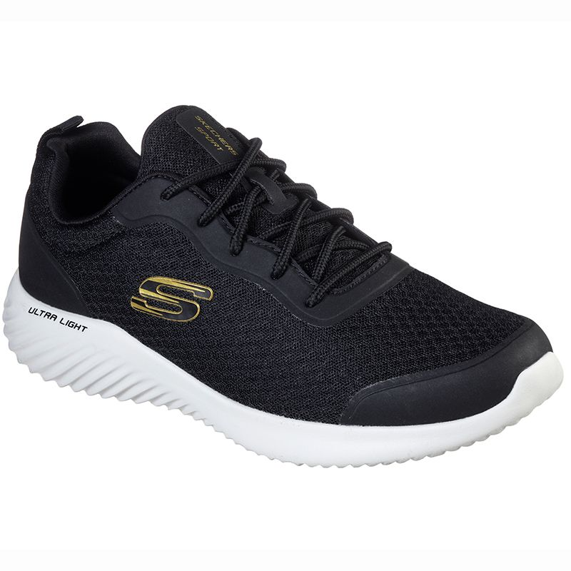 Alegre Mal humor Clan  Men's Skechers Bounder - Voltis Sport Shoes Black / Gold | oneills.com -  International
