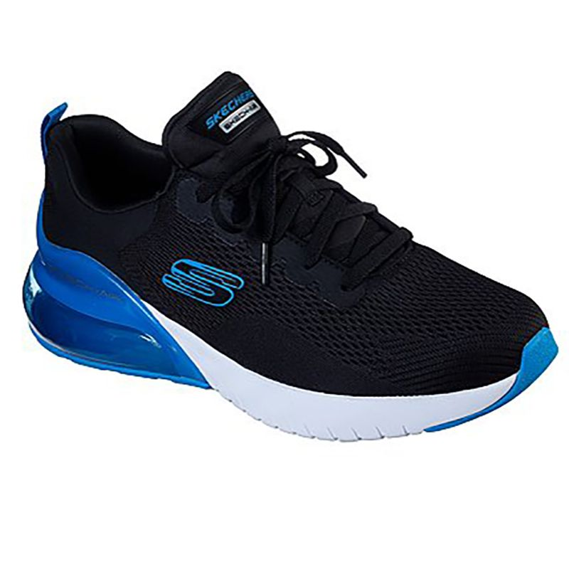 Men's Skechers Skech-Air Stratus Maglev Trainers Black / Blue