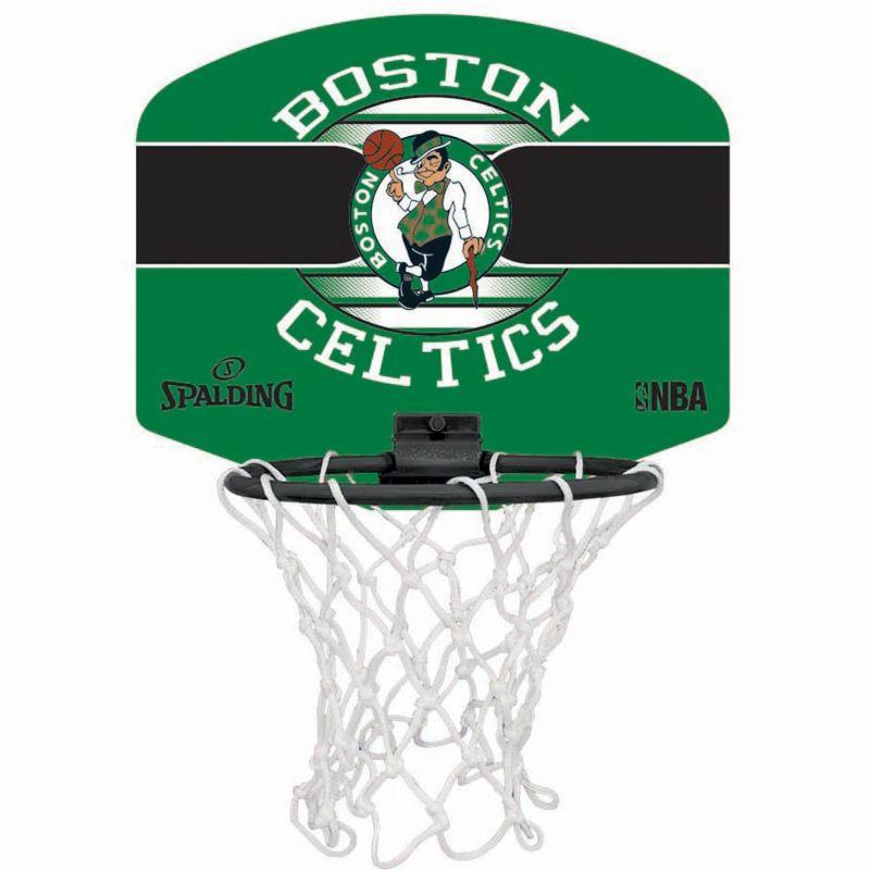 Spalding NBA Boston Celtics Mini Basketball Hoop Set