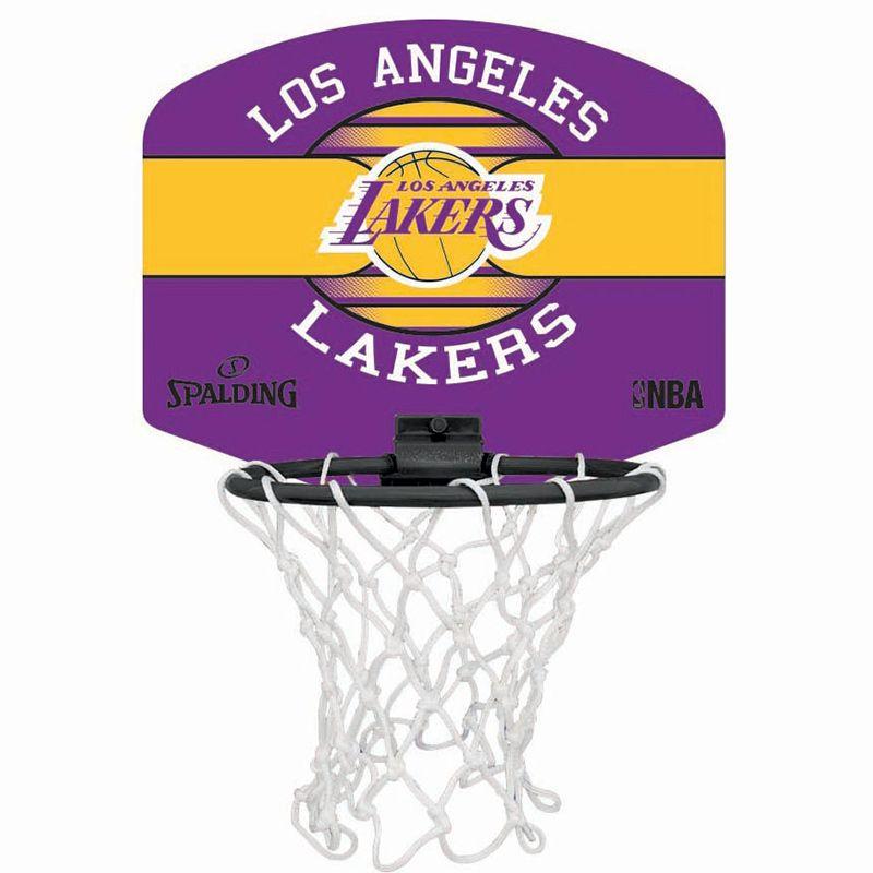 Spalding NBA LA Lakers Mini Basketball Hoop Set