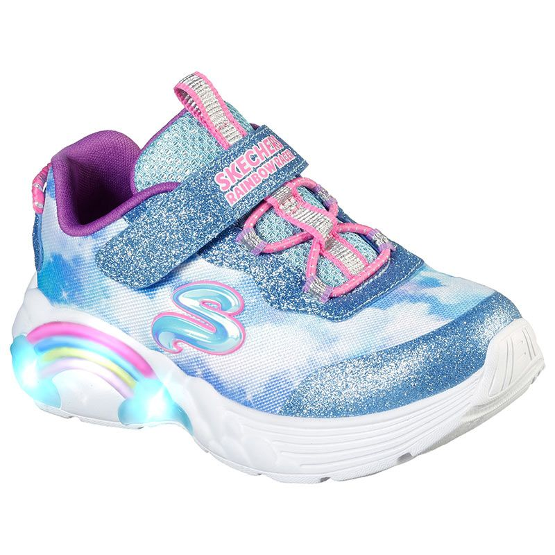 Kids' Skechers S Slights : Rainbow Racer Infant Trainers Blue