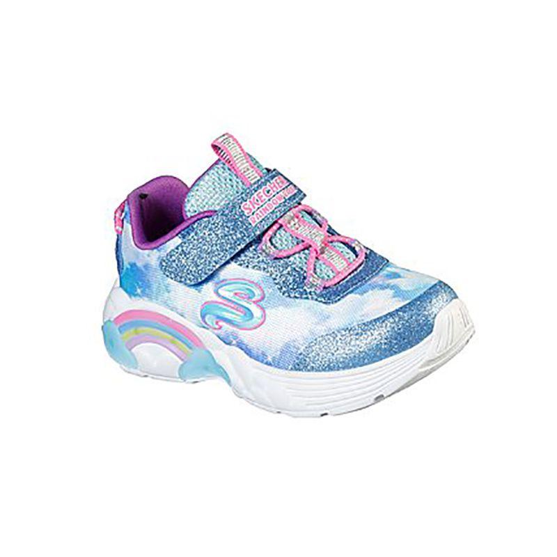Kids' Skechers S Lights: Rainbow Racer Infant Trainers Blue