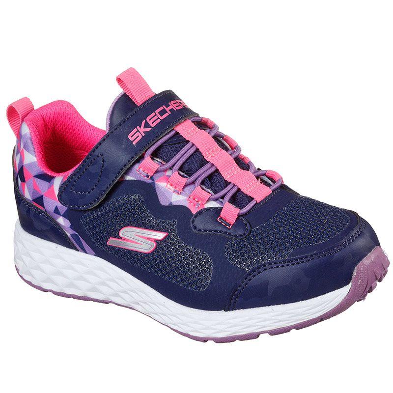 Kids' Skechers Tread Lite Waterproof PS Trainers Navy / Pink