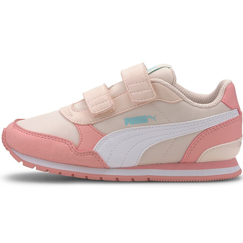 Kids' Puma ST Leather Runner V2 PS Trainers Rosewater / Peony / White