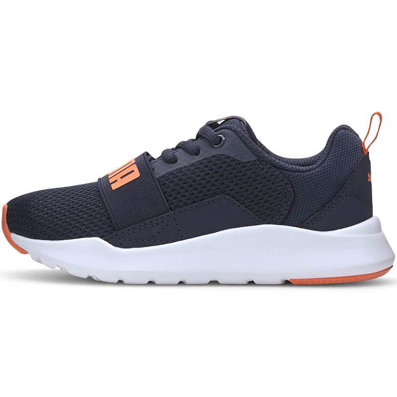 Kids' Puma Wired PS Trainers Peacoat / Firecracker
