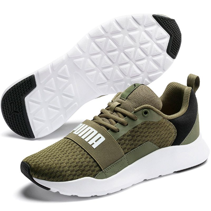 Men's Puma Wired Trainers Burnt Olive