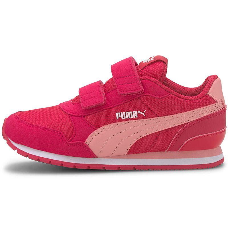 Kids' Puma ST V2 Mesh AC PS Trainers Bright Rose / Peony / White