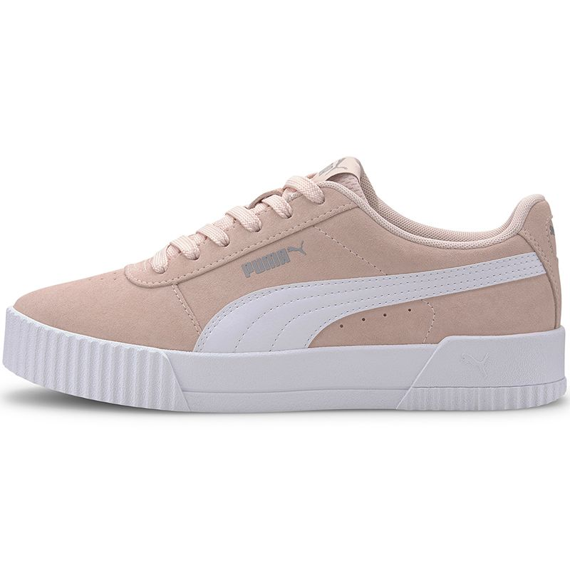 Women's Puma Carina Suede Trainers Pink / White
