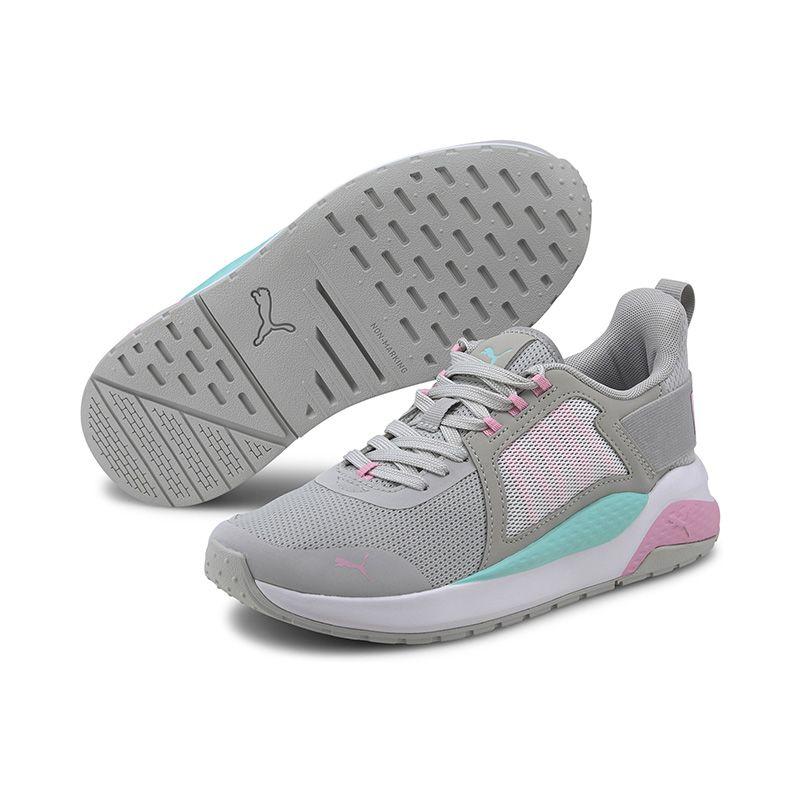 Kids' Puma Anzarun Junior Trainers Grey Violet / Pale Pink / Aruba Blue