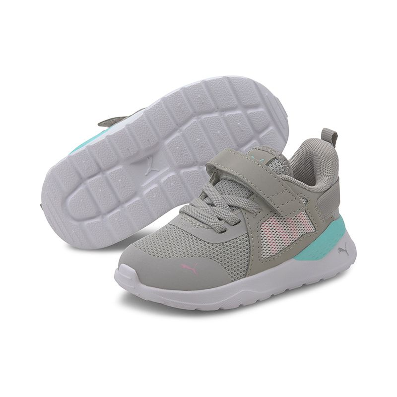 Kids' Puma Anzarun Infant Trainers Grey Violet / Pale Pink / Aruba Blue