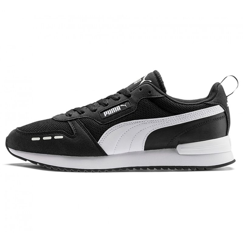 Men's Puma R78 Trainers Black / White
