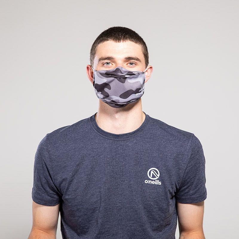 Reusable Face Mask Black Camo