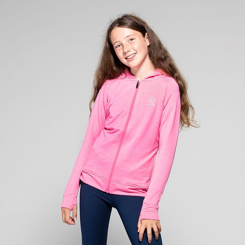 Kids' Esme French Terry Full Zip Hoodie Azalea Pink