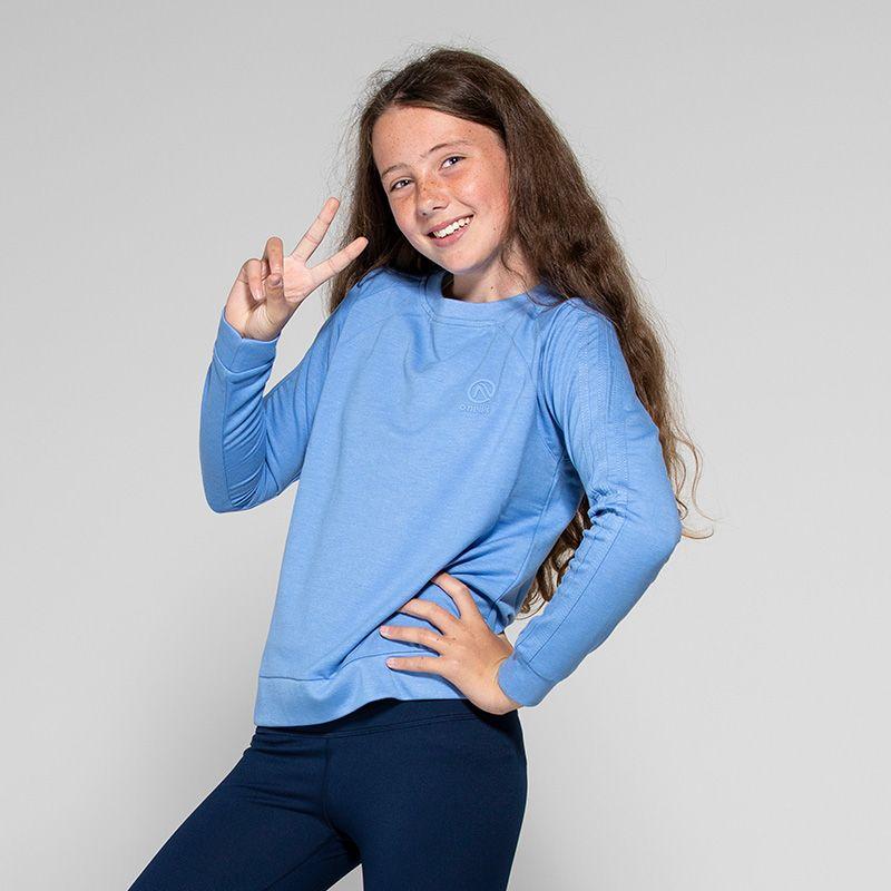 Kids' Esme 3 Stripe French Terry Sweatshirt Blue