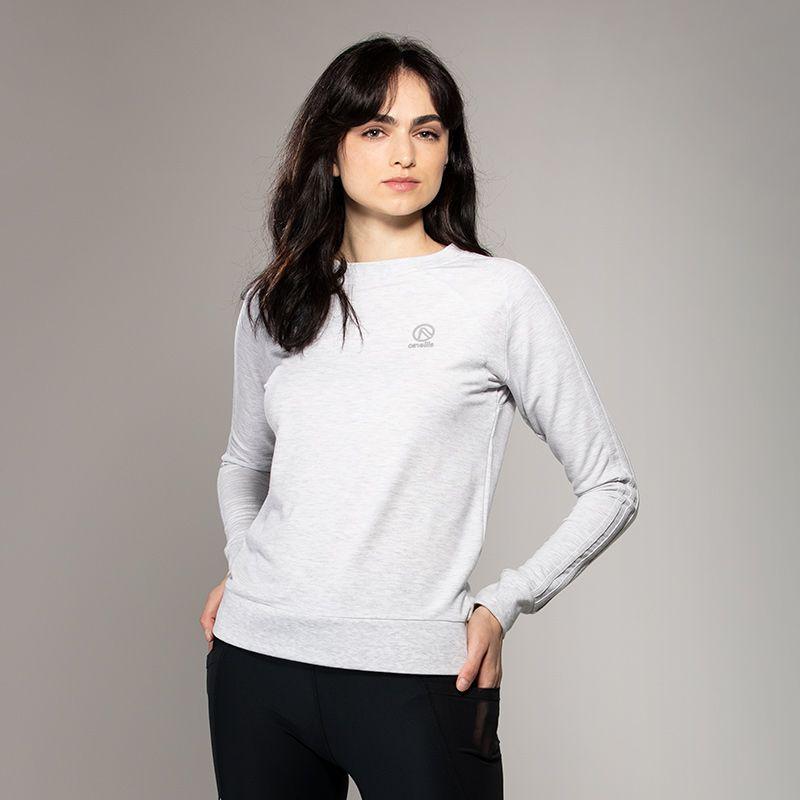 Women's Esme 3 Stripe French Terry Sweatshirt Grey