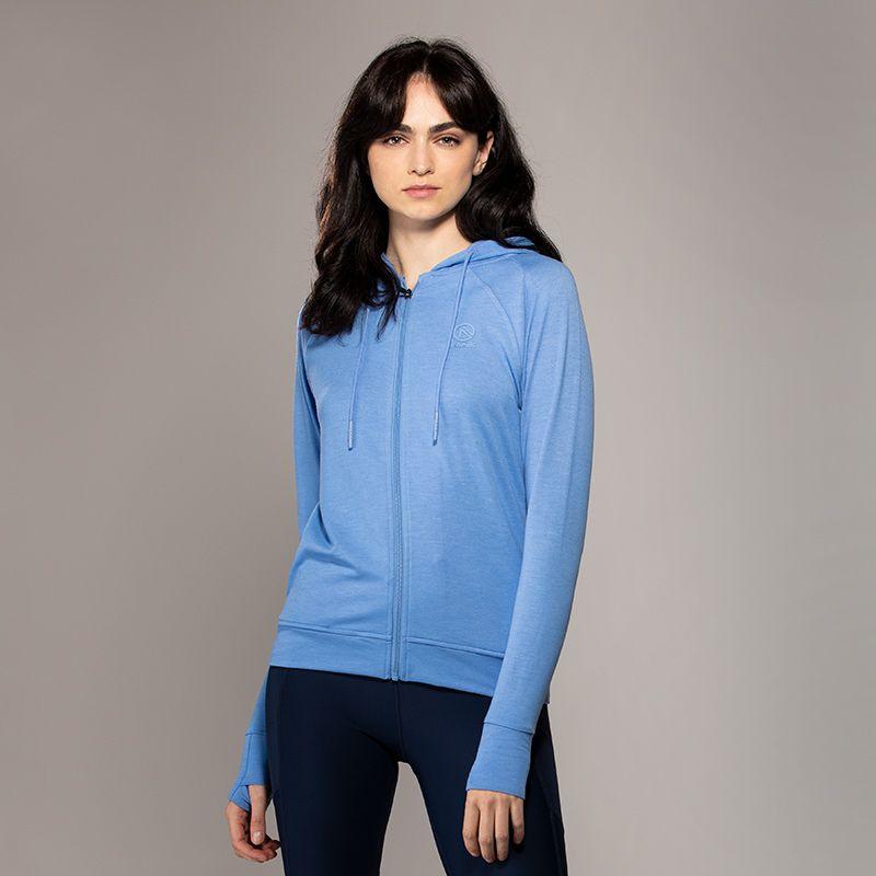 Women's Esme French Terry Full Zip Hoodie Blue