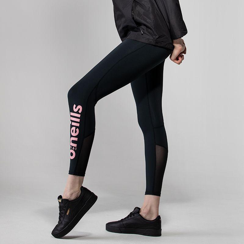 Women's Anya 7/8 Length Leggings Black / Pink
