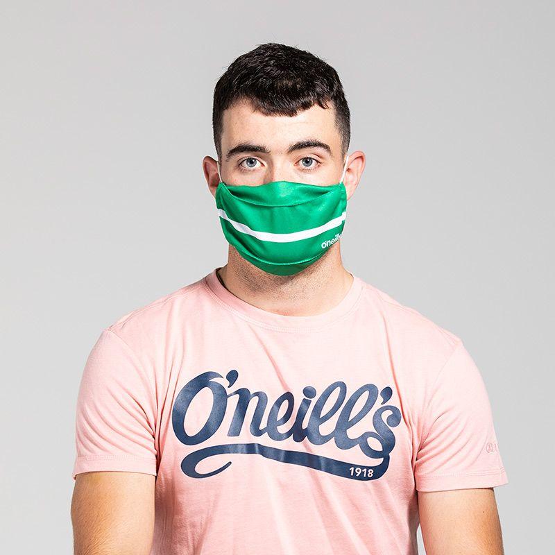 Reusable Face Mask Green / White