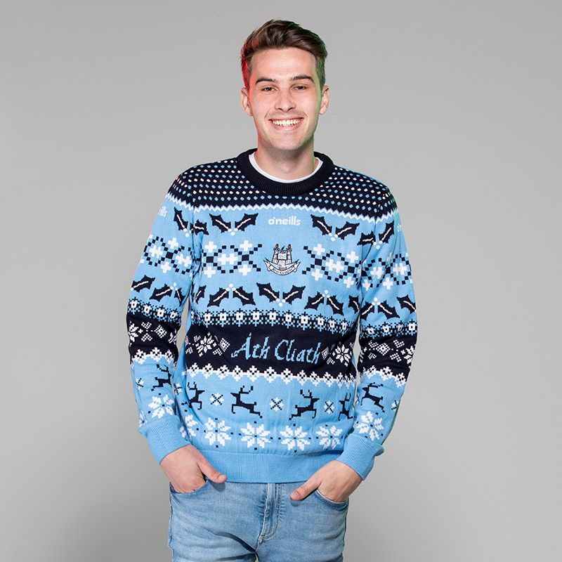 Dublin GAA Seasonal Christmas Jumper Sky / Marine